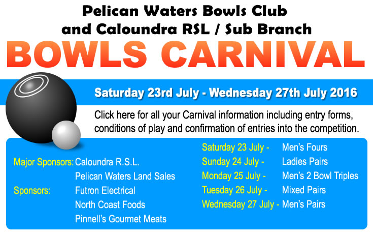 Pelican Waters Bowl Club Carnival 2016